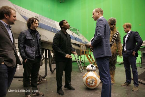 Star Wars: The Force Awakens - Behind the scenes photo of John Boyega, Prince William & Prince Harry