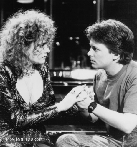 Back to the Future Part II - Publicity still of Lea Thompson & Michael J. Fox