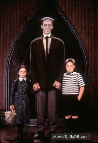 The Addams Family - Promo shot of Christina Ricci, Jimmy Workman & Carel Struycken