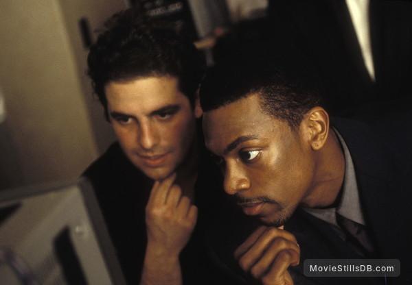 Rush Hour - Behind the scenes photo of Chris Tucker & Brett Ratner