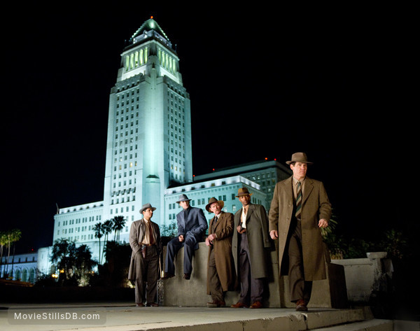 Gangster Squad - Publicity still of Josh Brolin, Robert Patrick, Ryan Gosling, Michael Peña & Anthony Mackie