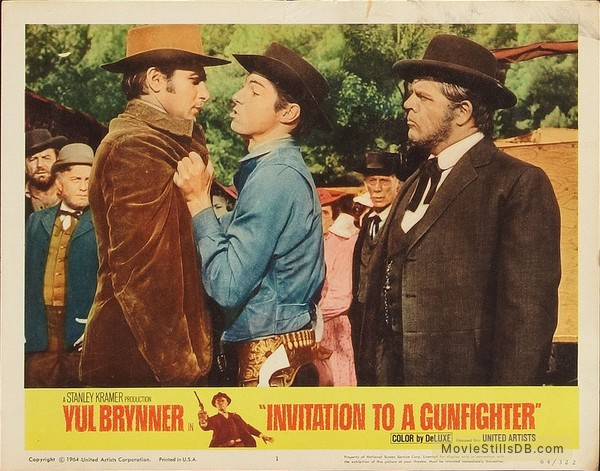 Invitation to a gunfighter lobby card with pat hingle stopboris Image collections