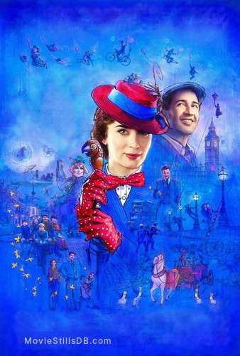 Mary Poppins Returns - Promotional art with Colin Firth, Meryl Streep, Lin-Manuel Miranda, Emily Mortimer, Julie Walters, Ben Whishaw & Emily Blunt