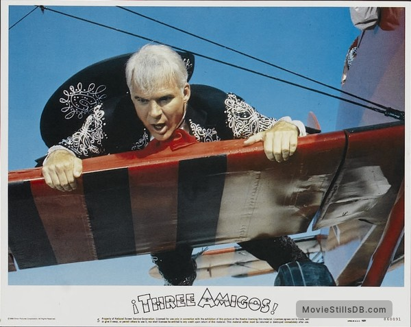 ¡Three Amigos! - Lobby card with Steve Martin