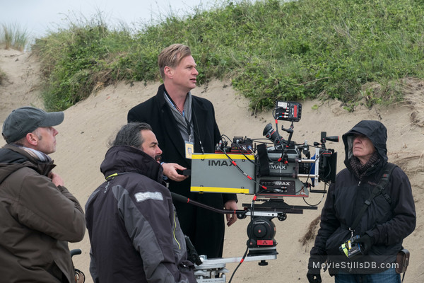 Dunkirk - Behind the scenes photo of Christopher Nolan