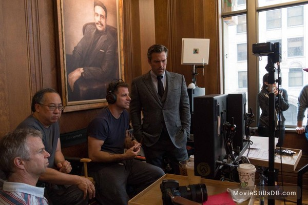 Batman v Superman: Dawn of Justice - Behind the scenes photo of Zack Snyder, Ben Affleck & Larry Fong