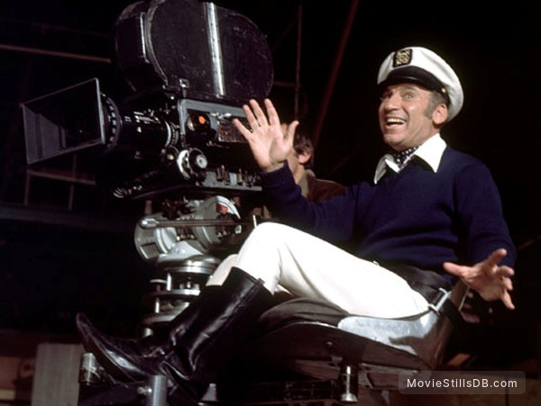 Silent Movie Behind The Scenes Photo Of Mel Brooks