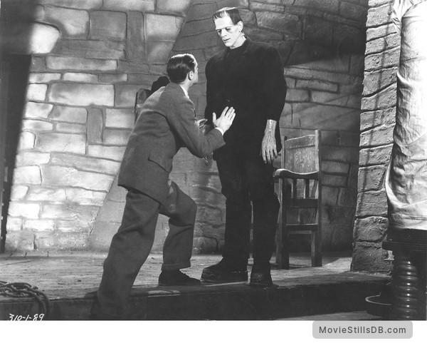 Frankenstein - Publicity still of Colin Clive & Boris Karloff