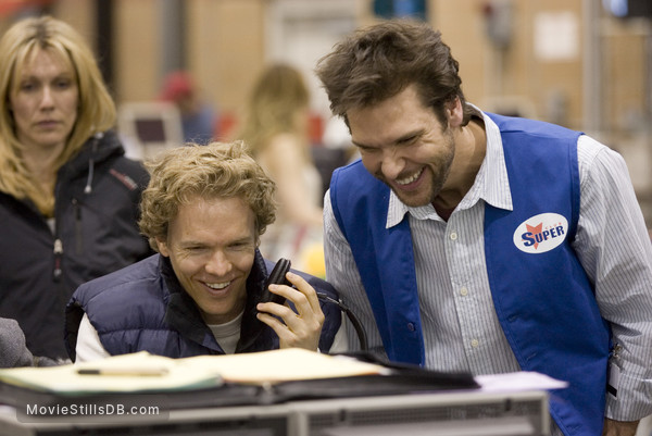 Employee Of The Month - Behind the scenes photo of Greg Coolidge & Dane Cook