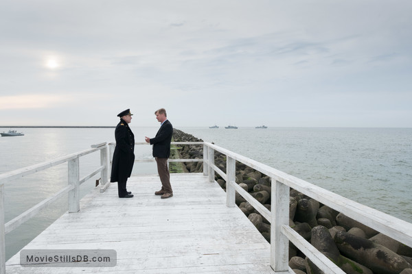 Dunkirk - Behind the scenes photo of Christopher Nolan & Kenneth Branagh