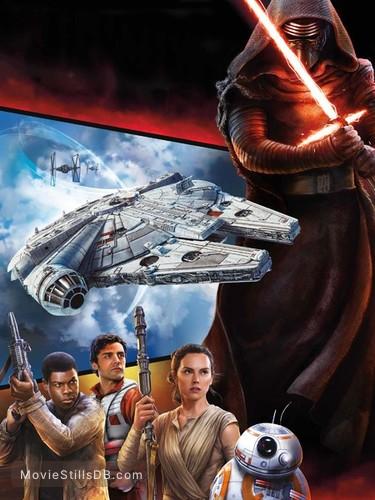 Star Wars: The Force Awakens - Promotional art with Oscar Isaac, John Boyega & Daisy Ridley