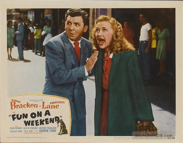 'Fun on a Week-End' - Lobby card