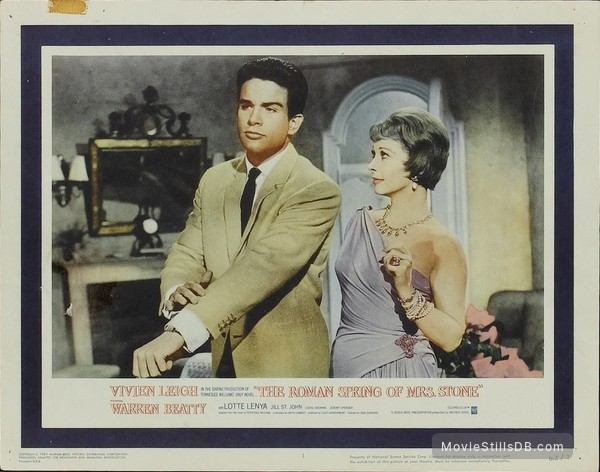 The Roman Spring of Mrs. Stone - Lobby card with Warren Beatty & Vivien Leigh