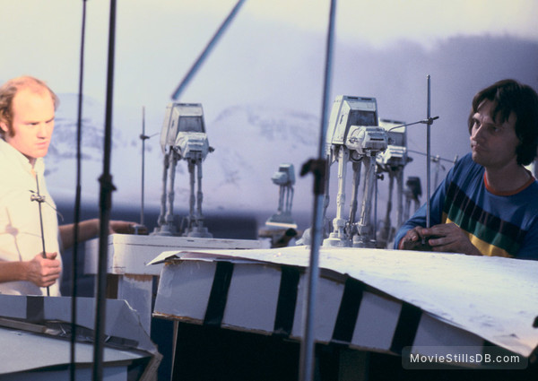 Star Wars: Episode V - The Empire Strikes Back - Behind the scenes photo of Phil Tippett & Jon Berg