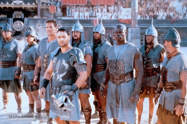 Gladiator - Publicity still of Russell Crowe, Djimon Hounsou & Ralf Moeller