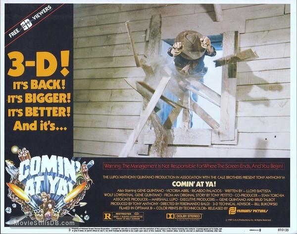 Comin' at Ya! - Lobby card