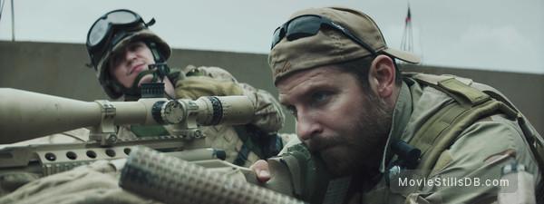 American Sniper - Publicity still of Bradley Cooper & Kyle Gallner