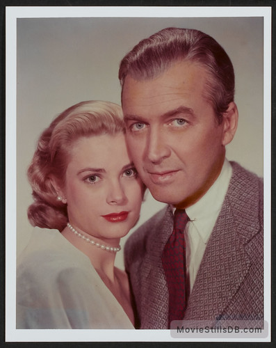 Rear Window - Promo shot of Grace Kelly & James Stewart