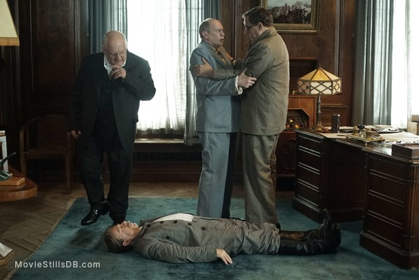 The Death of Stalin - Publicity still of Simon Russell Beale, Steve Buscemi, Jeffrey Tambor & Adrian Mcloughlin