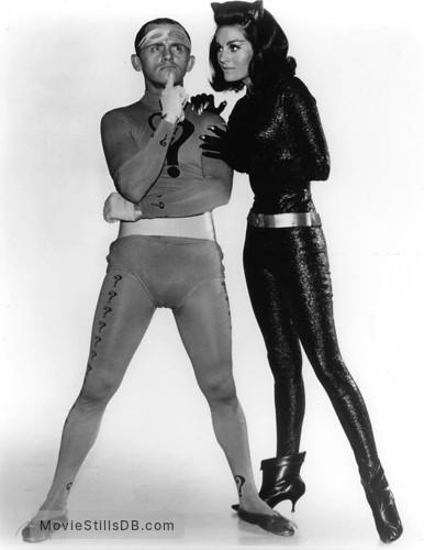 Batman - Promo shot of Lee Meriwether & Frank Gorshin