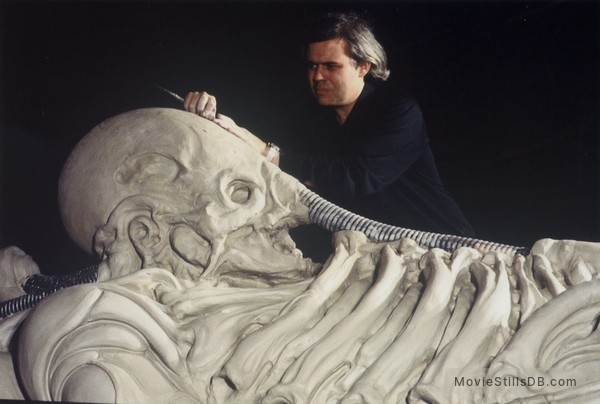 Alien - Pre-production image with H.R. Giger