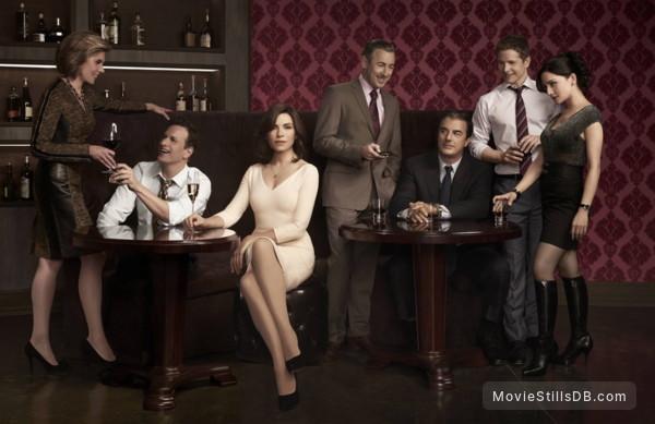 The Good Wife - Promo shot of Josh Charles, Julianna Margulies, Alan Cumming, Chris Noth, Matt Czuchry, Archie Panjabi & Christine Baranski