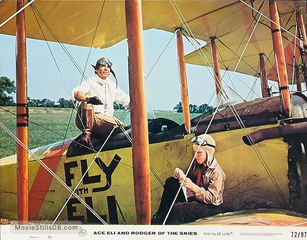 Ace Eli and Rodger of the Skies - Lobby card with Cliff Robertson & Eric Shea