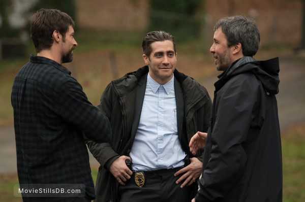 Prisoners - Behind the scenes photo of Denis Villeneuve, Hugh Jackman & Jake Gyllenhaal