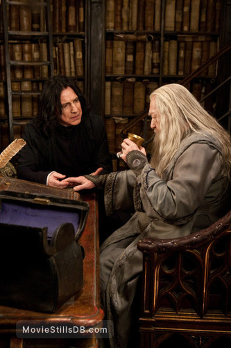 Harry Potter and the Deathly Hallows: Part II - Publicity still of Alan Rickman & Michael Gambon