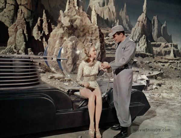Forbidden Planet - Publicity still of Anne Francis & Leslie Nielsen