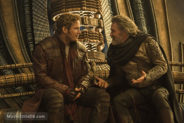 Guardians of the Galaxy Vol. 2 - Publicity still of Chris Pratt & Kurt Russell