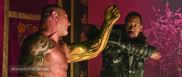 The Man with the Iron Fists - Publicity still of RZA & Dave Bautista