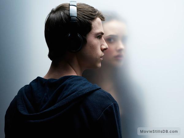 13 Reasons Why - Promo shot of Katherine Langford & Dylan Kenin