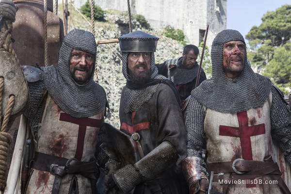 Knightfall - Publicity still of Simon Merrells & Pádraic Delaney