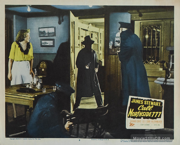 Call Northside 777 - Lobby card with James Stewart & Kasia Orzazewski