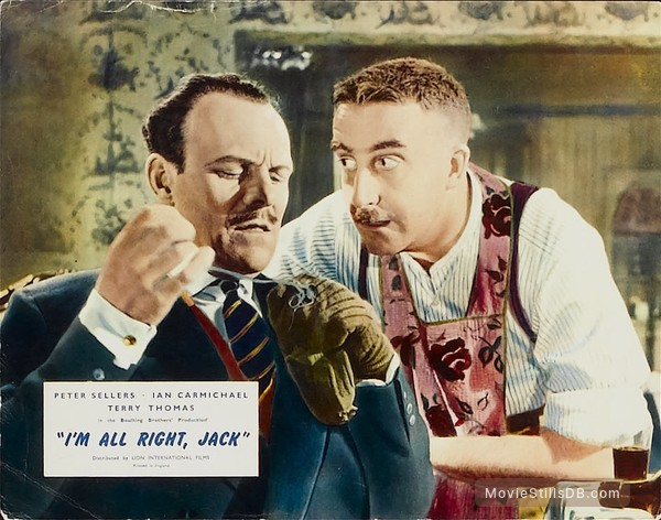 I'm All Right Jack - Lobby card with Peter Sellers & Terry-Thomas