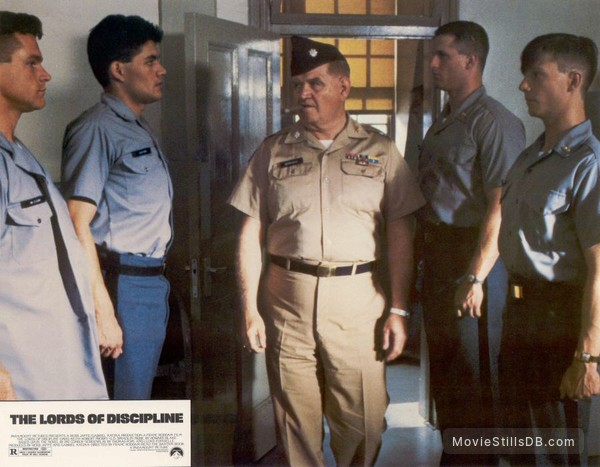 the lords of discipline lobby card with david keith