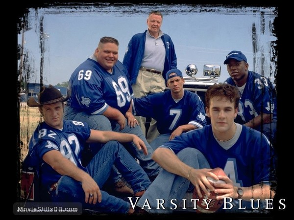 Varsity Blues - Wallpaper with James Van Der Beek, Ron Lester, Jon Voight, Paul Walker, Scott Caan & Eliel Swinton