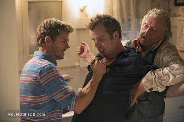 True Blood - Publicity still of Ryan Kwanten, Robert Kazinsky & Rutger Hauer