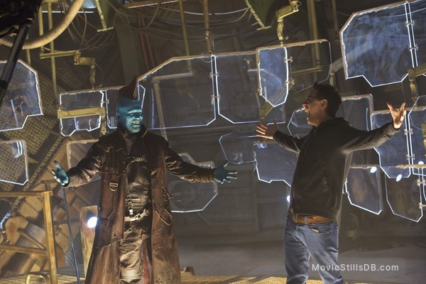 Guardians of the Galaxy Vol. 2 - Behind the scenes photo of Michael Rooker & James Gunn