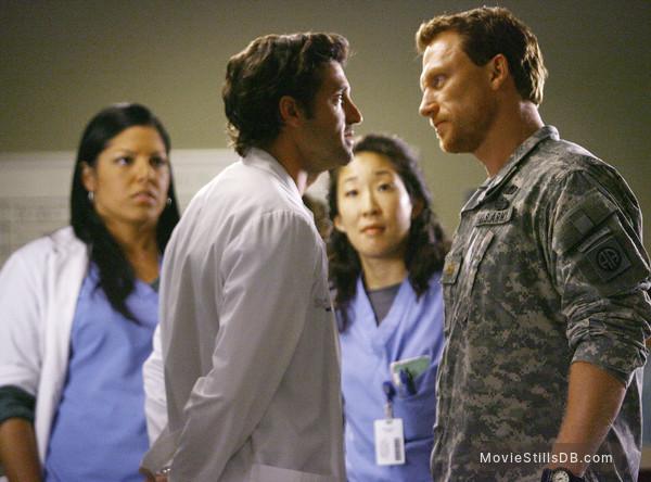 Grey's Anatomy - Publicity still of Sara Ramirez, Patrick Dempsey, Sandra Oh & Kevin McKidd