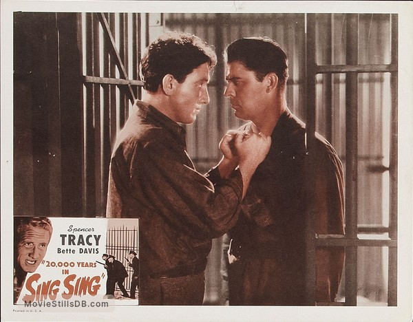 20,000 Years in Sing Sing - Lobby card with Spencer Tracy & Lyle Talbot