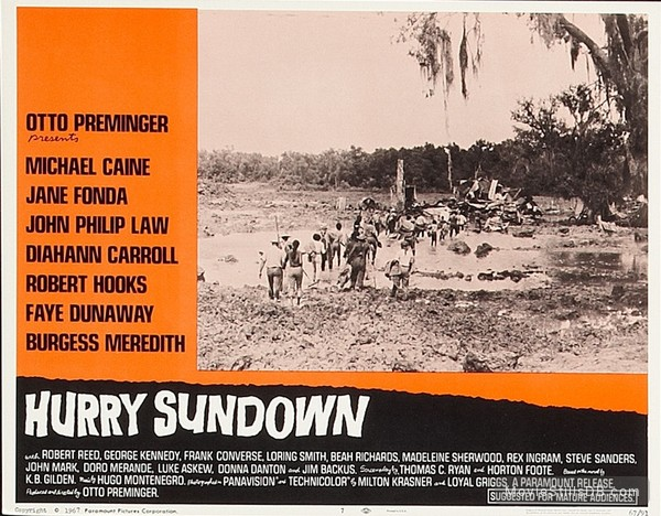 Hurry Sundown - Lobby card