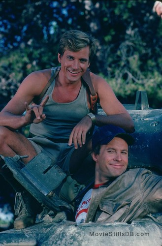 The A-Team - Promo shot of Dirk Benedict & Dwight Schultz