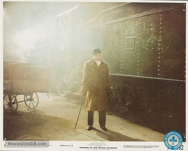 Murder on the Orient Express - Lobby card with Albert Finney