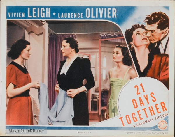 21 Days - Lobby card with Laurence Olivier & Vivien Leigh