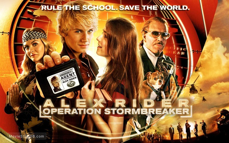 Stormbreaker - Wallpaper with Alex Pettyfer, Sarah Bolger, Alicia Silverstone & Mickey Rourke