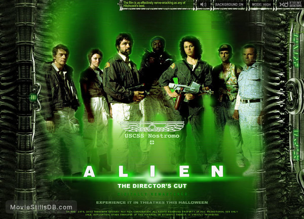 Alien - Wallpaper with Sigourney Weaver, John Hurt, Tom Skerritt, Ian Holm, Harry Dean Stanton, Yaphet Kotto & Veronica Cartwright