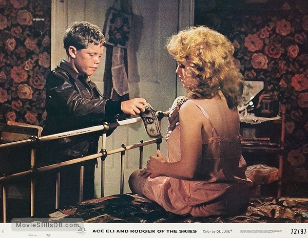 Ace Eli and Rodger of the Skies - Lobby card with Eric Shea & Bernadette Peters