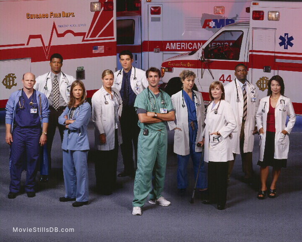 ER - Promo shot of Noah Wyle, Mekhi Phifer, Ming-Na Wen, Maura Tierney, Alex Kingston, Goran Visnjic, Sherry Stringfield & Laura Innes